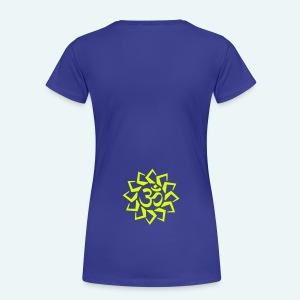 Ladies Green Logo T-Shirt - Star Back - Women's Premium T-Shirt