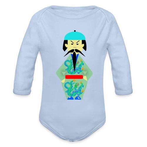 Mandarín . Body manga larga bebé - Body orgánico de manga larga para bebé
