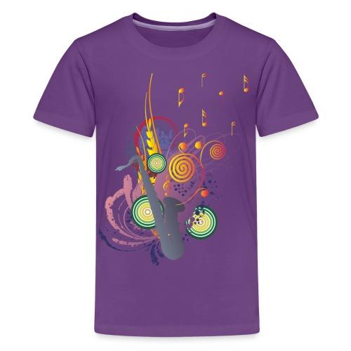 colours of Music - saxophon blau - Teenager Premium T-Shirt