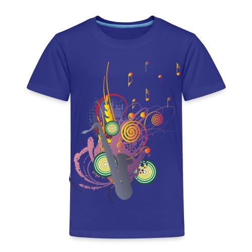 colours of Music - saxophon blau - Kinder Premium T-Shirt
