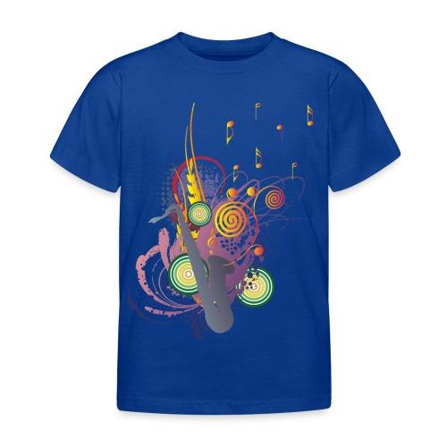 colours of Music - saxophon blau - Kinder T-Shirt
