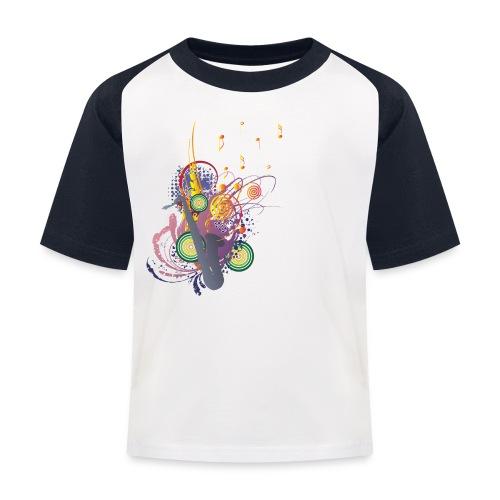 colours of Music - saxophon blau - Kinder Baseball T-Shirt