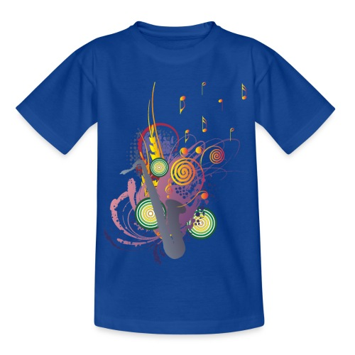 colours of Music - saxophon blau - Teenager T-Shirt