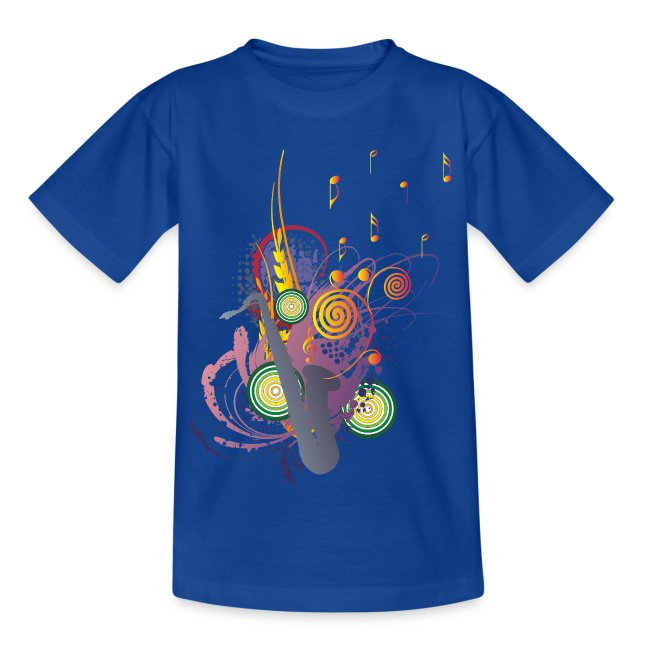 colours of Music - saxophon blau