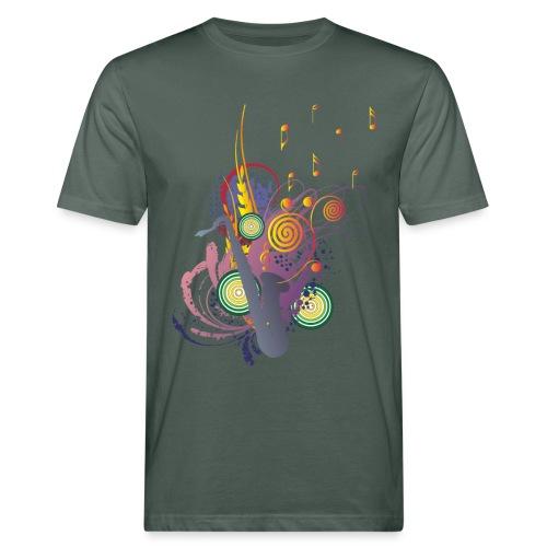 colours of Music - saxophon blau - Männer Bio-T-Shirt