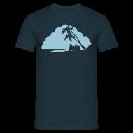 T-Shirts ~ Männer T-Shirt ~ Vespa Island - Blue Moon