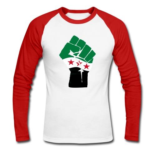 Free Syria - Langærmet herre-baseballshirt