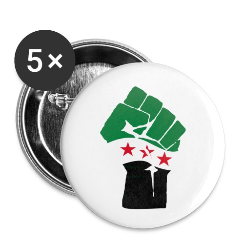Free Syria badge - Buttons/Badges mellemstor, 32 mm (5-pack)