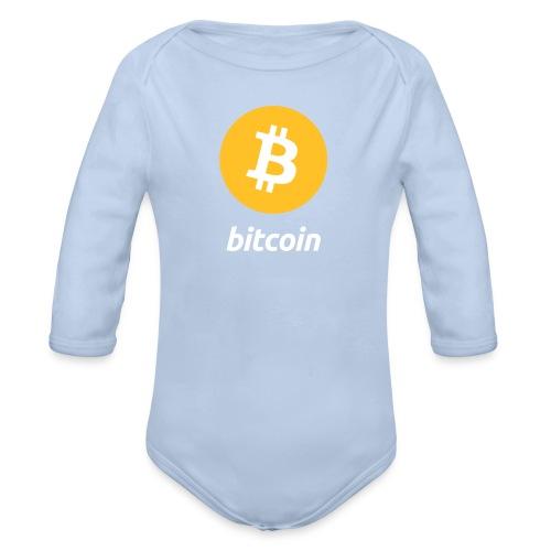 Baby Body Bitcoin Logo - Baby Bio-Langarm-Body