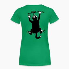 cat hanging on T-Shirt - Shit [2 color] T-Shirts