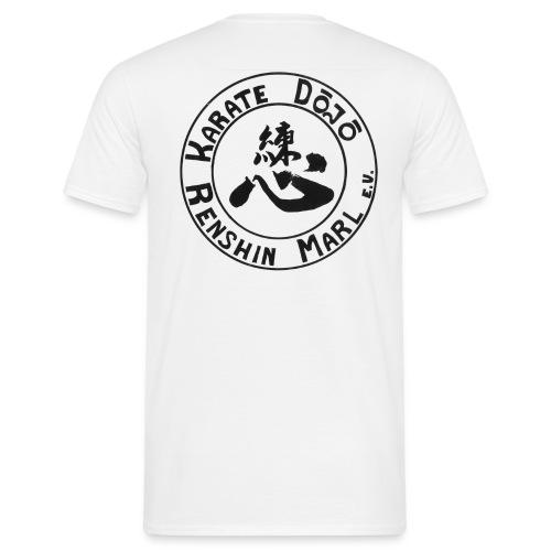Karate-TShirt-White-Backprint - Männer T-Shirt