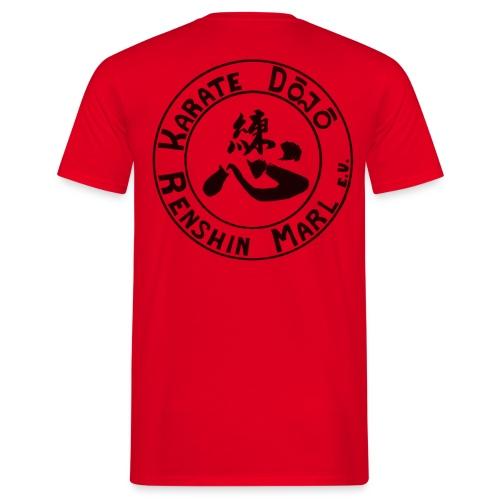 Karate-TShirt-Red-Backprint - Männer T-Shirt