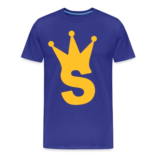 S LOGO TEE (ROYAL) - Men's Premium T-Shirt