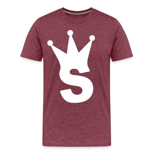 S LOGO TEE (PURPLE) - Men's Premium T-Shirt