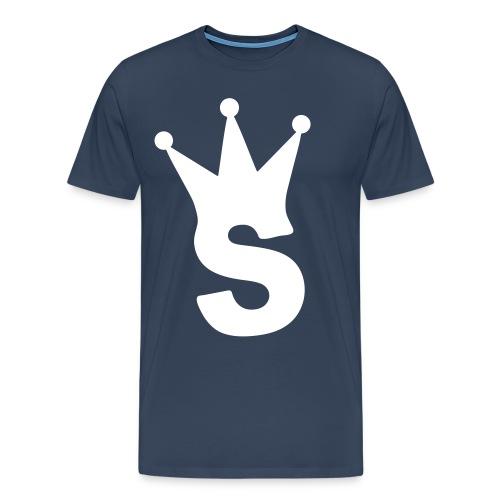 S LOGO TEE (NAVY) - Men's Premium T-Shirt