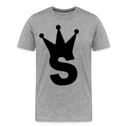 S LOGO TEE (GREY) - Men's Premium T-Shirt