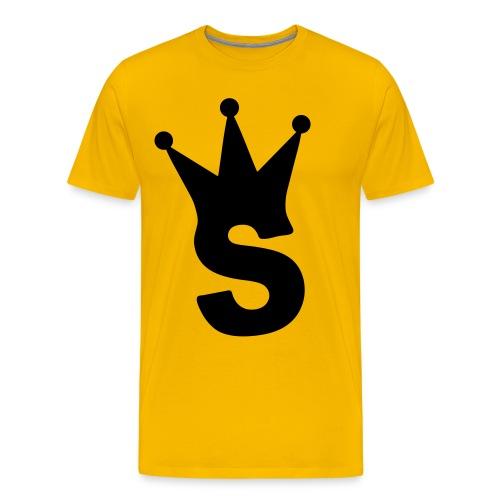 S LOGO TEE (YELLOW) - Men's Premium T-Shirt