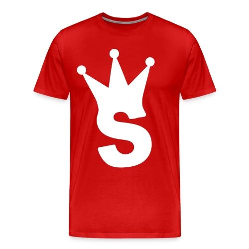 S LOGO TEE (RED) - Men's Premium T-Shirt