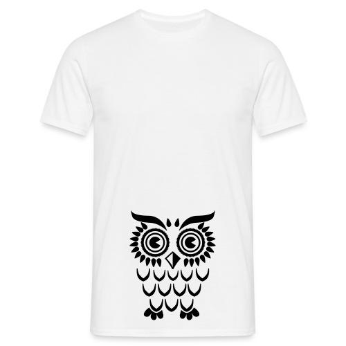 Mannen T-Shirt Owl. - Mannen T-shirt