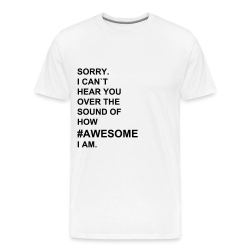 #AWESOME shirt/male - Männer Premium T-Shirt