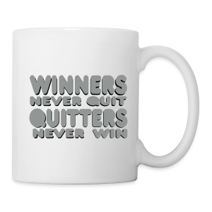 White mug - Winners Never Quit - Mug