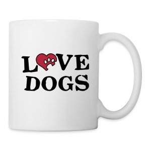 White mug - Love Dogs - Mug