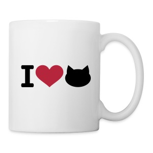 White Mug - I Love Cats - Mug