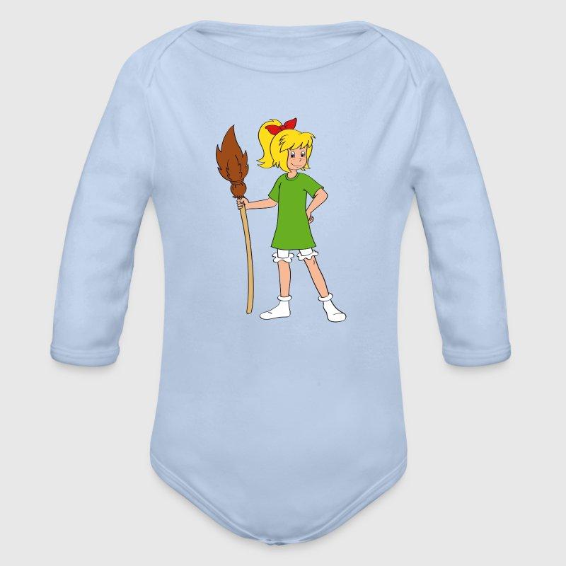 bibi blocksberg posiert baby langarm body baby body spreadshirt. Black Bedroom Furniture Sets. Home Design Ideas