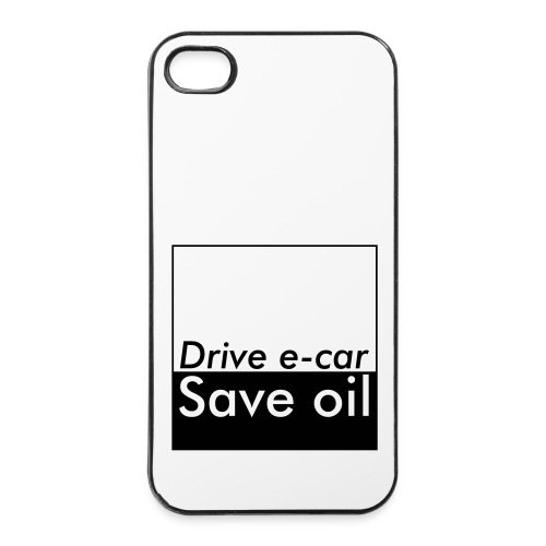 Drive e-car - Save oil   © by TOSKIO-VTMS - iPhone 4/4s Hard Case