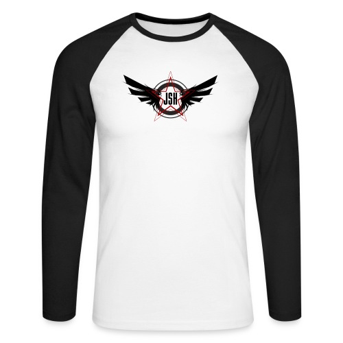 JSH Logo #10-b - Men's Long Sleeve Baseball T-Shirt