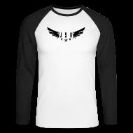 Long sleeve shirts ~ Men's Long Sleeve Baseball T-Shirt ~ JSH Logo #1-w