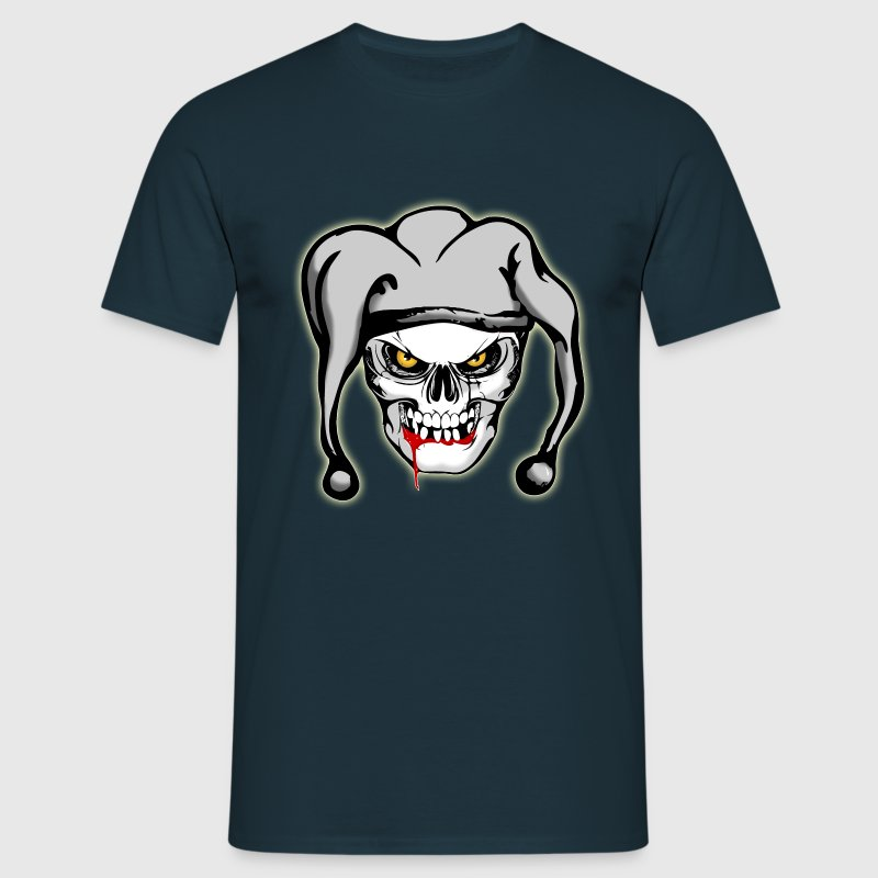 Navy Agressieve Joker Skull T-shirts - Mannen T-shirt