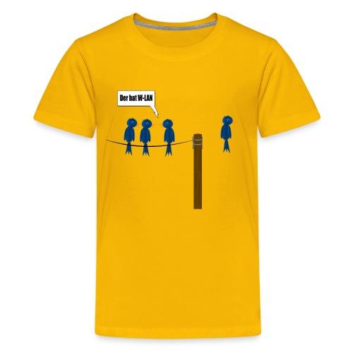 Der W-Lan Vogel - Teenager Premium T-Shirt