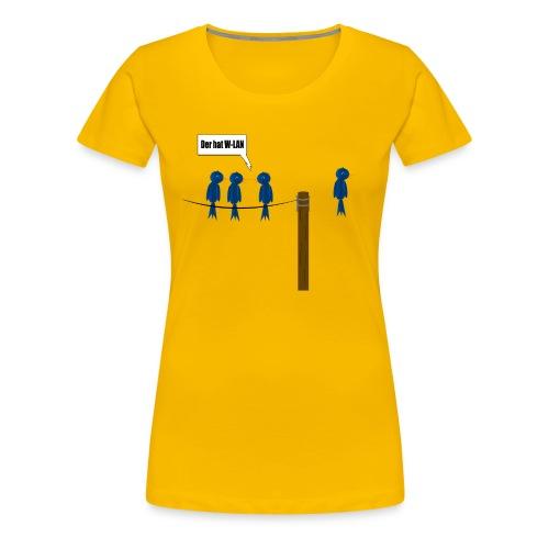 Der W-Lan Vogel - Frauen Premium T-Shirt