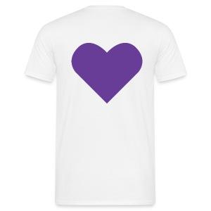 Heart Shirt White (Herr) - T-shirt herr