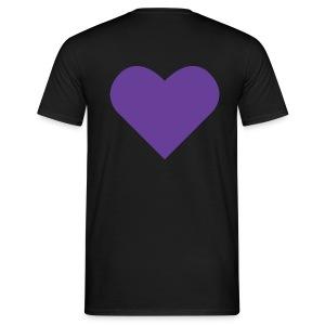 Heart Shirt Black (Herr) - T-shirt herr