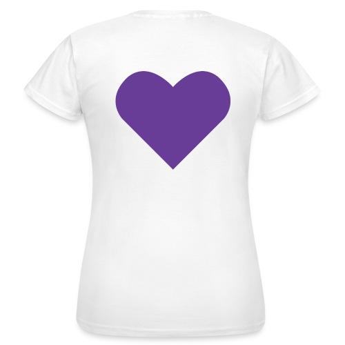 Heart Shirt White (Dam) - T-shirt dam
