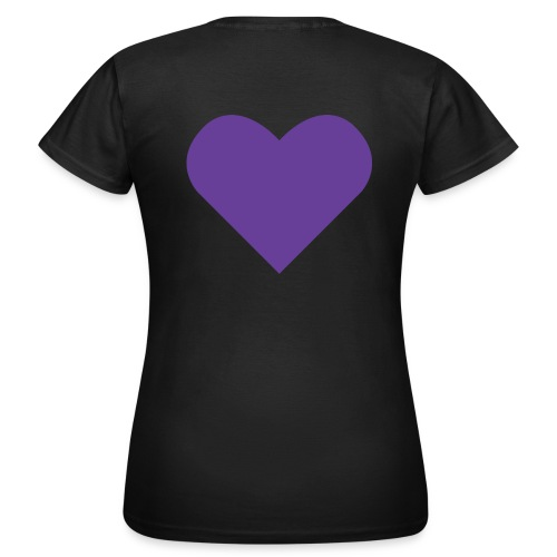 Heart Shirt Black (Dam) - T-shirt dam