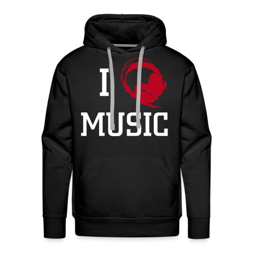 I LOVE MUSIC! (Headphones) - Men's Premium Hoodie
