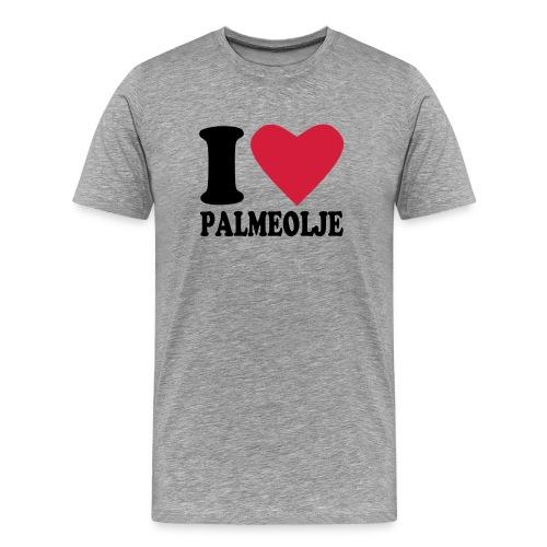 Jeg elsker palmeolje - Premium T-skjorte for menn
