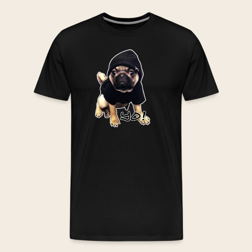 Yo! Mops  T-Shirt - Männer Premium T-Shirt