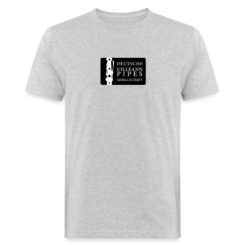Bio Herren Shirt: DUPG Logo weiß - mittlere Logo Größe - Männer Bio-T-Shirt