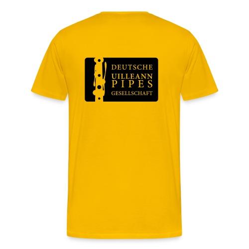 Herren Shirt: DUPG Logo transparent - großes Logo Rücken - Männer Premium T-Shirt