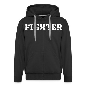 Men's Hooded Jacket Fighter - Men's Premium Hooded Jacket