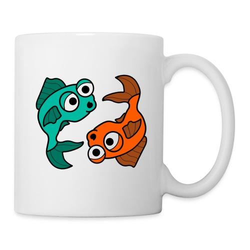 poissons bd - Mug blanc