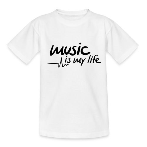 T-Shirt Music Is My Life - Teenager-T-shirt