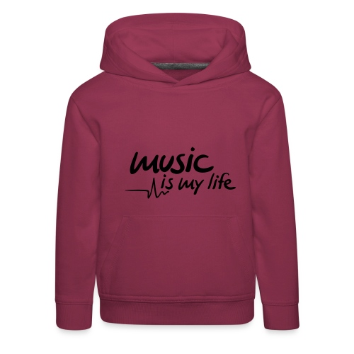 Hættetrøje Music Is My Life - Premium hættetrøje til børn