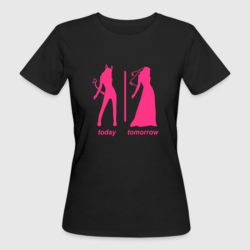 bride today tomorrow T-shirts - Vrouwen Bio-T-shirt