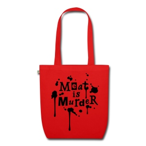 BIO-Stofftasche 'Meat is Murder' Red - Bio-Stoffbeutel
