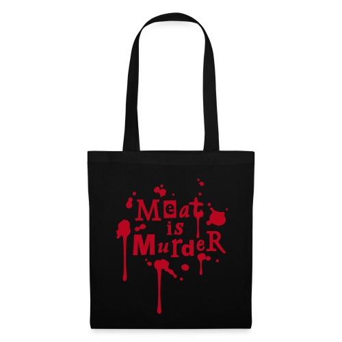 Tragetasche 'Meat is Murder' - Stoffbeutel